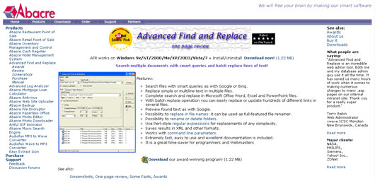 Advanced Find and Replace
