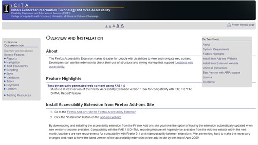 Firefox Accessibility Extension