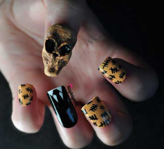 Doctor Who Nail Art - The Silence