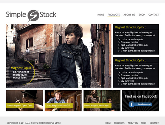 Free Clean Website PSD Template