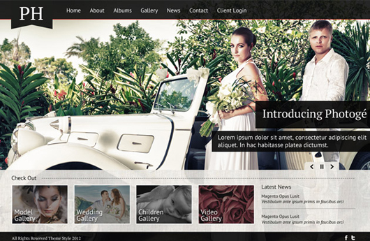 Free Photography Website PSD