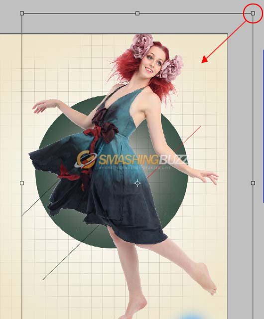 Transform tool for resize image