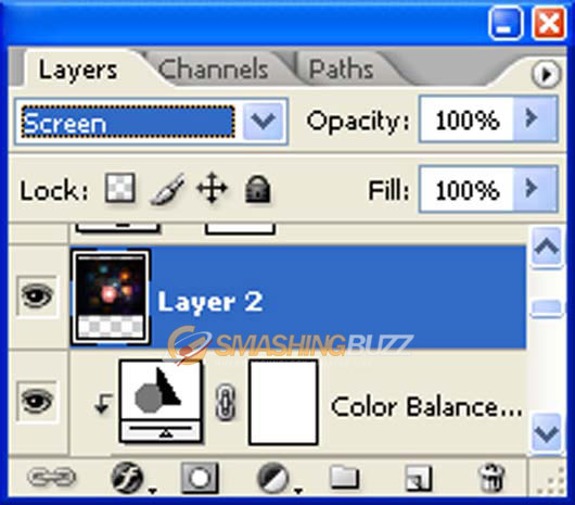 layer mode to Screen