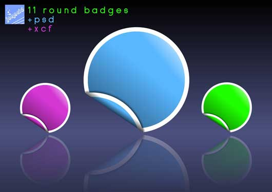Artwork 11 Round Badges