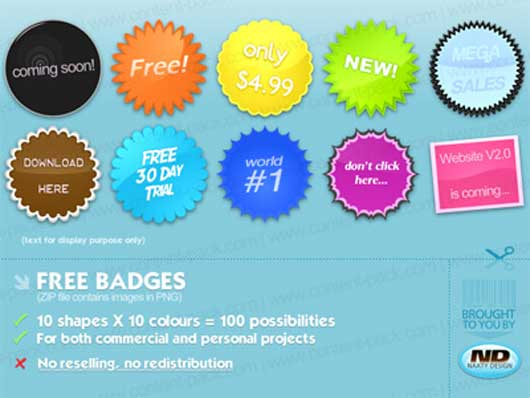 Free Badges Stickers