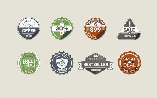 Free Vintage Stickers Badges