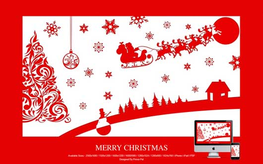 Merry Christmas wallPAPER STYLE