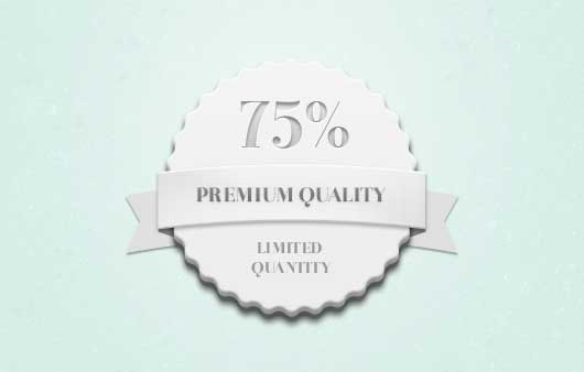 Quantity Badge (Psd)