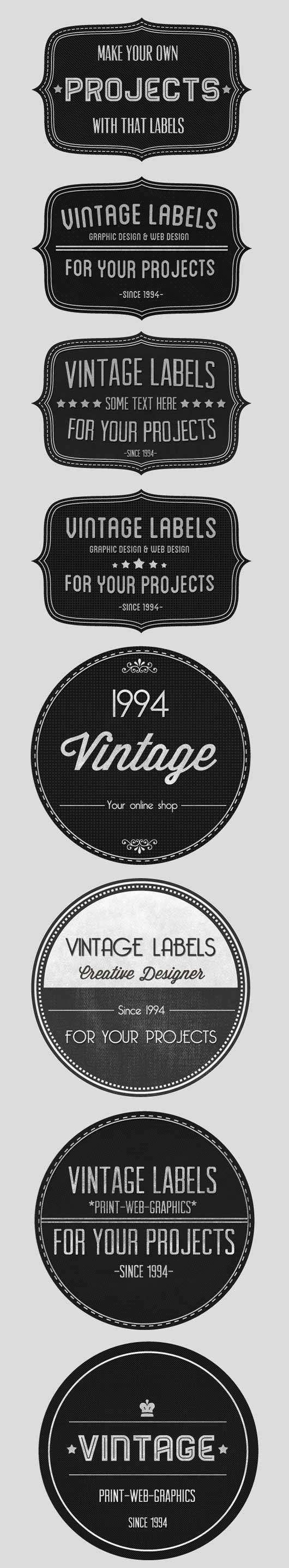 Vintage Badges Set