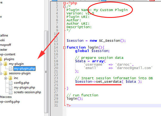 WordPress Sessions Plugin (with Database)