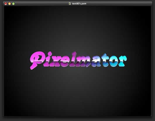 80'S Style Text Effect In Pixelmator