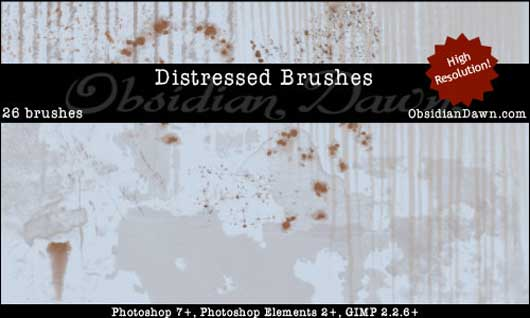 Distressed Photoshop Brushes