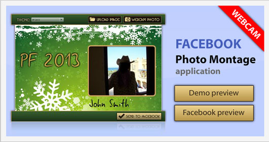 Facebook Photo Montage Application Template