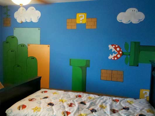 Finished Mario Bros Wall
