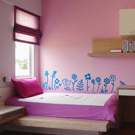 Fun Flowers Wall Sticker Set by Spin Collective