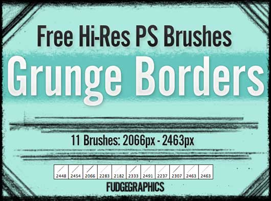 Grunge Borders Brush Set