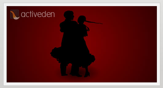 Lovers Dance Silhouette Animation