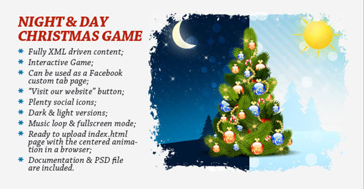 Night & Day Christmas Game and Greeting card