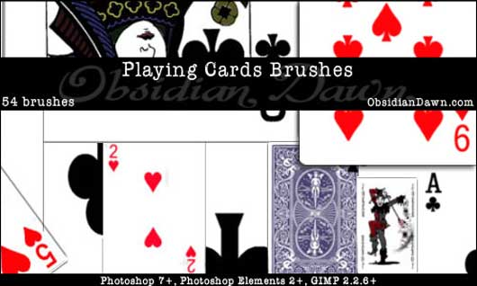 Playing Card Photoshop Brushes
