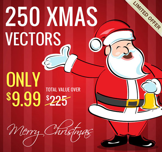 The Ultimate Christmas Vector Bundle - only $9.99!