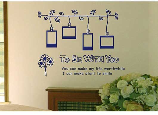 To Be With You Photo Frame Wall Sticker