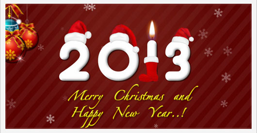 XML Christmas and New year Card