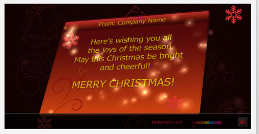Christmas Card with 3D effect