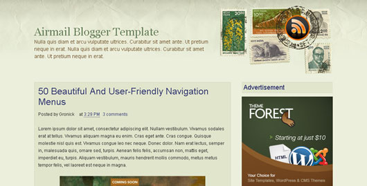 Airmail Blogger Template