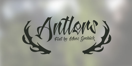 Antlers Demo font