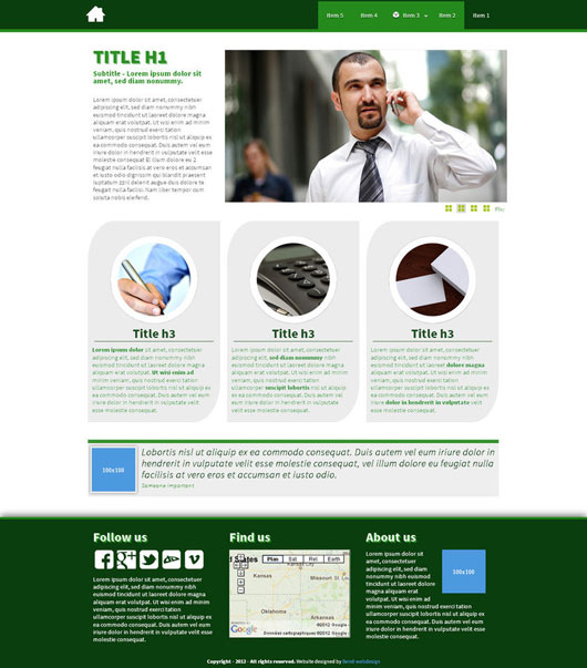 Business Template Html5 Css3