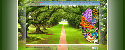 Gardenfolio HTML5 and CSS3 Template