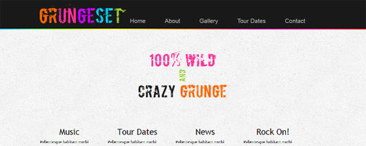 Grungeset HTML5 and CSS3 Template