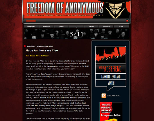 Guy Fawkes Blogger Templates