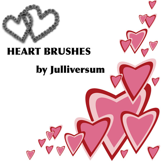HIGH RES Heart Brushes