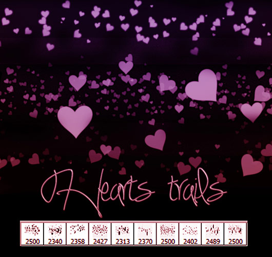 Hearts Trails Brushes