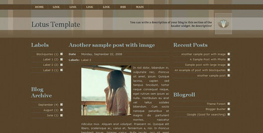 Lotus Template for Blogger