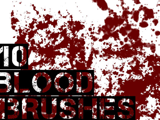 10 Blood Brushes - GIMP