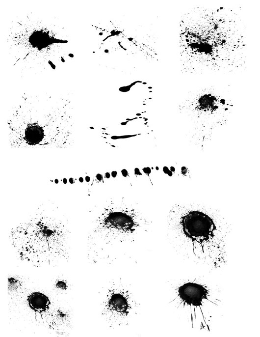 13 Splatter brushes