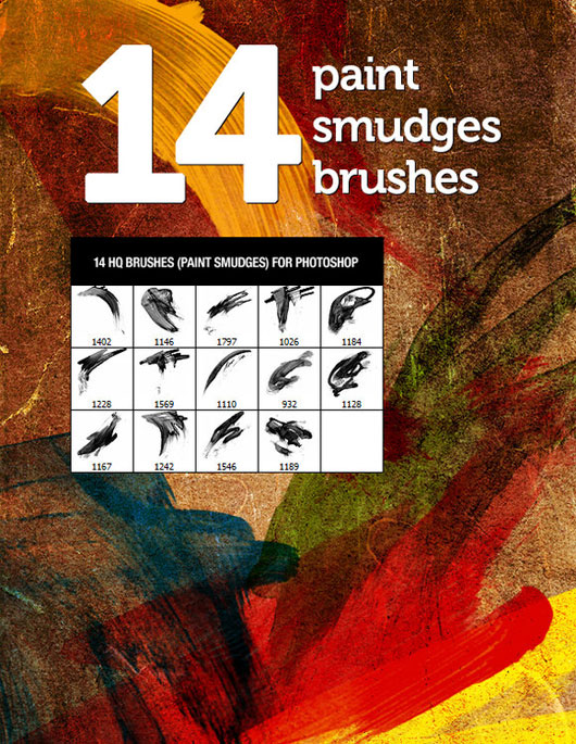 4 Paint Smudges Brushes