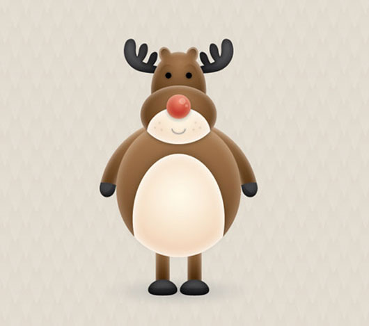Creating a Cute Vector Reindeer Character in Illustrator
