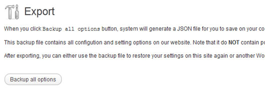 Creating a Simple Backup/Restore Settings Feature