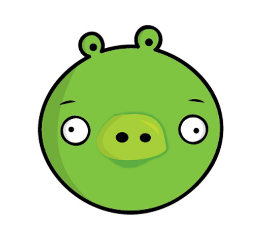 HOW TO CREATE ANGRY BIRDS CHARACTERS IN ADOBE ILLUSTRATOR. (GREEN PIG)