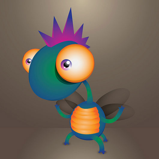 How to create a cute little monster in Illustrator