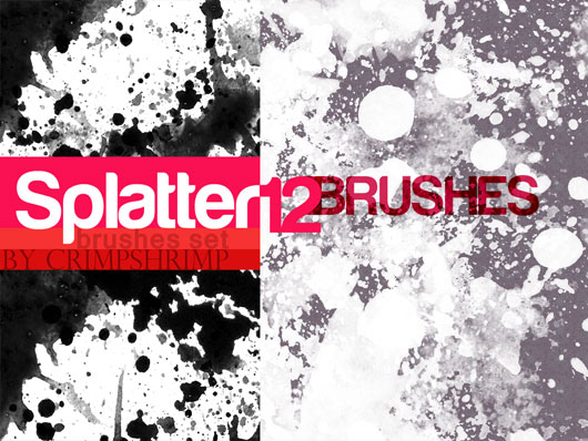 SPLATTERS12- brush set