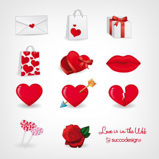 Vector Icon Set for Valentine's Day