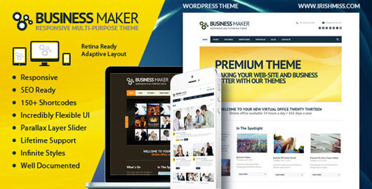 Business Maker  Retina Ready Corporate WP Theme