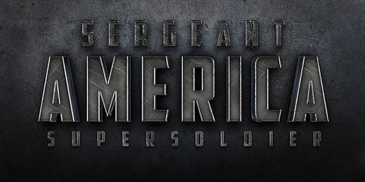 """Create a Cinematic """"Sergeant America"""" Text Effect in Photoshop"""