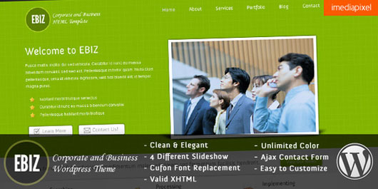 EBIZ  Corporate and Business WordPress Theme