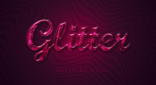 Extremely glossy and shiny text effect. PSD file is available to download