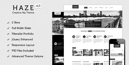 Haze Beautiful WordPress Theme